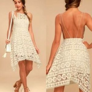 Free People Just Like Honey Cream Lace Dress
